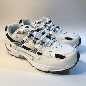 Vionic Walker White And Navy Men's Sneakers 9 Wide
